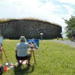Akrylmålning på Visingsö