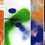 Abstrakt konstkurs collage