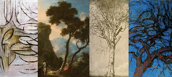 Konstkurs med trädtema collage